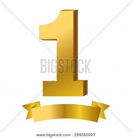 First Place Award Symbol Ribbon Banner Vector Illustration Graphic Design Vector Illustration Graphi