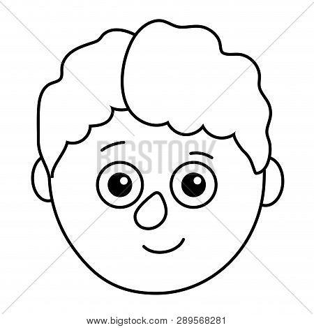 Young Boy Head Vector Illustration Graphic Design