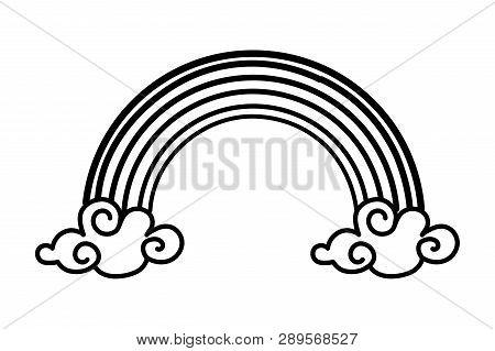 Magic Rainbow Cartoon Vector Illustration Graphic Design