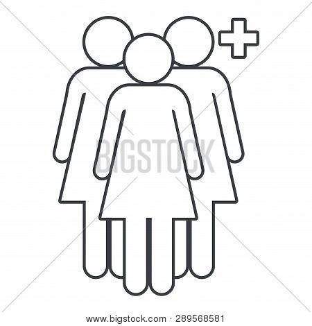 Women Pictogram Add Users Cartoon Vector Illustration Graphic Design
