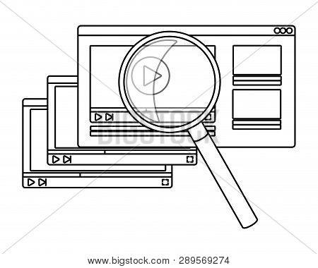 Online Education Elements Cartoon Vector Illustration Graphic Design