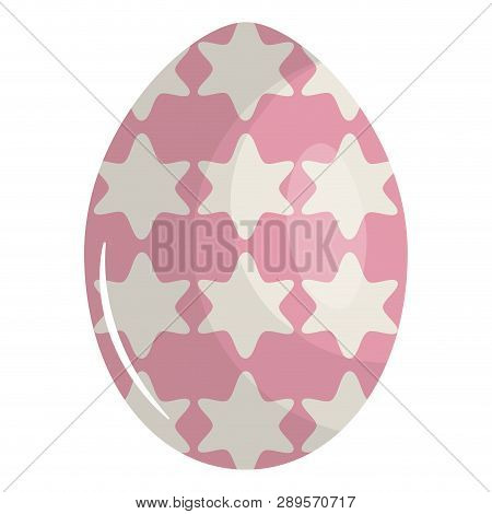 Egg Painted Happy Easter With Geometric Figures Vector Illustration Design