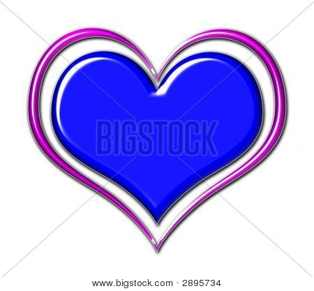 Heart In Blue And Purple