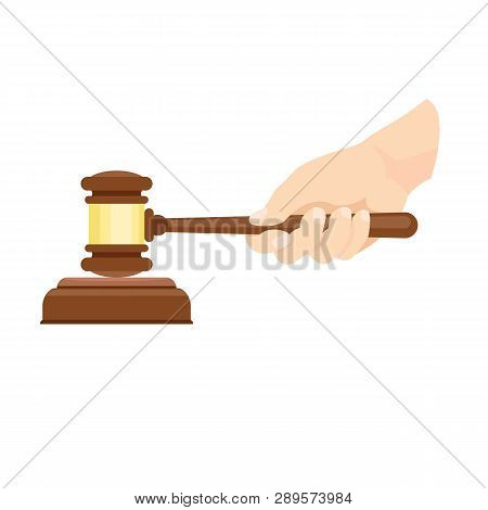 Wood Gavel Hand Icon Vector Photo Free Trial Bigstock