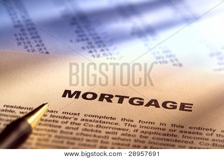 Real Estate Mortgage Document On Financial Figures