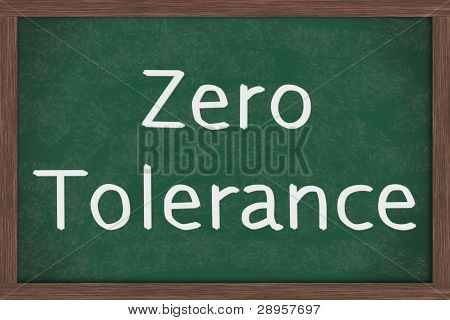 Zero Tolerance Policy At Schools