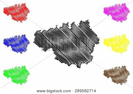 Greater Manchester (united Kingdom, England, Metropolitan County) Map Vector Illustration, Scribble