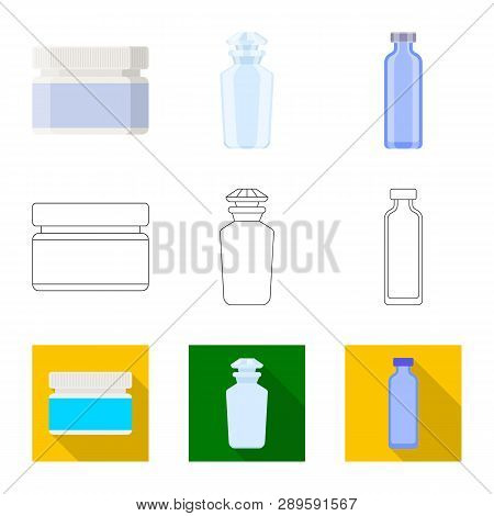 Vector Illustration Of Retail And Healthcare Sign. Set Of Retail And Wellness Stock Vector Illustrat