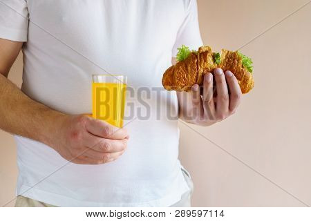 Fattening Meals, Fast Food, High-calorie Snack. Weight Loss, Dietary, Balanced Nutrition. Overweight