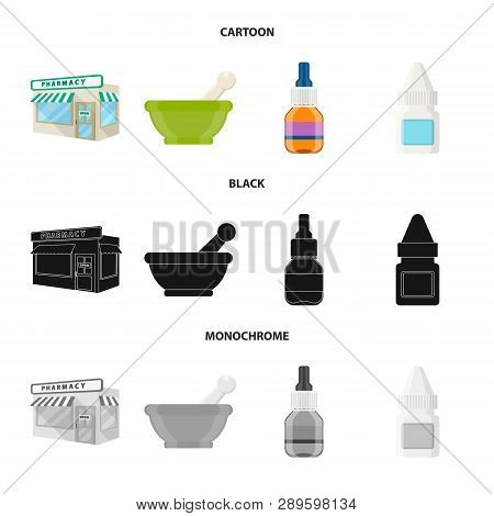 Vector Illustration Of Retail And Healthcare Icon. Collection Of Retail And Wellness Stock Vector Il