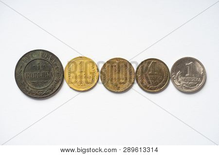 1 Kopek Of Different Years Of The 20th Century.