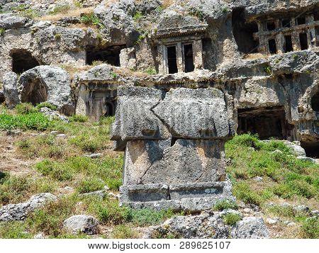 Burials Ancient Lycian City Tlos, The Ruins Of Which Are Located In The Turkish Province Of Mugla, I