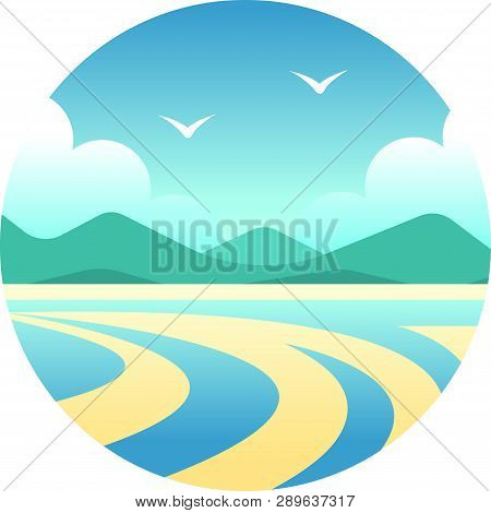 Whitsunday Islands Vector Illustration In Gradient Design