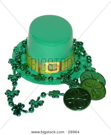 Green Hat And Coins