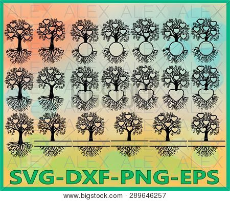 Family Tree Heart, Split Frame Family Tree