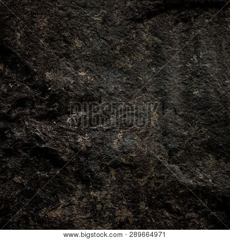 A Dark Texture Of The Natural Stone.