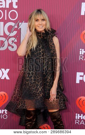 Heidi Klum at the 2019 iHeartRadio Music Awards held at the Microsoft Theater in Los Angeles, USA on March 14, 2019.