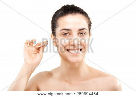 Girl With Cotton Ear Stick