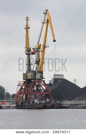 Hard Day For The Harbour Crane
