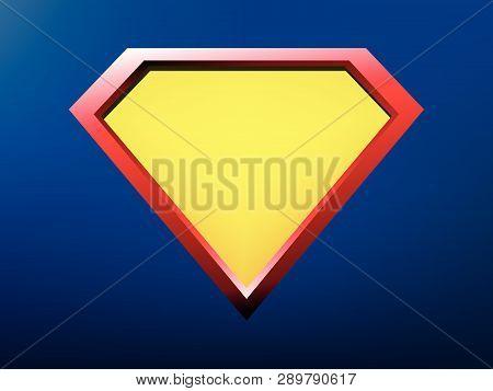 Superhero Logo Template, Superhero Shield Eps10 Vector