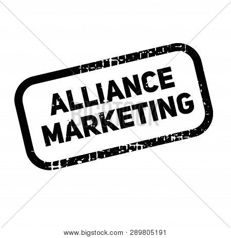 Alliance Marketing Advertising Sticker, Label, Stamp On White