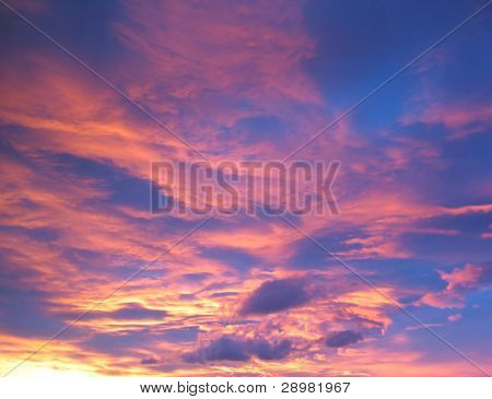 Blue And Pink Cloudscape