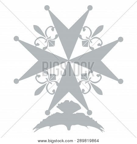 Huguenot Cross As A Symbol Of Evangelical Reformed Church In France. Huguenot Cross Isolated Vector