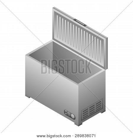 Deep Freezer Icon. Isometric Of Deep Freezer Icon For Web Design Isolated On White Background