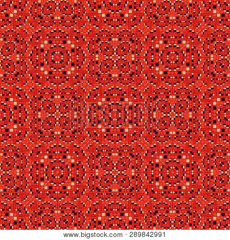 Geometric Artificial Feel Seamless Pattern, Abstract Colorful Background, Texture. Seamless Pattern,