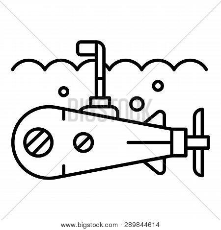 Sea Submarine Periscope Icon. Outline Sea Submarine Periscope Icon For Web Design Isolated On White