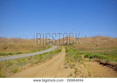 Ridgeline Of Wind Farm