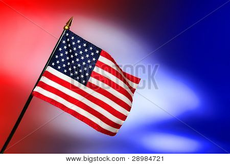 Patriotic American Us Flag With Stars And Stripes