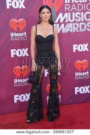 LOS ANGELES - MAR 14:  Jessica Szohr arrives for the iHeart Radio Music Awards 2019 on March 14, 2019 in Los Angeles, CA