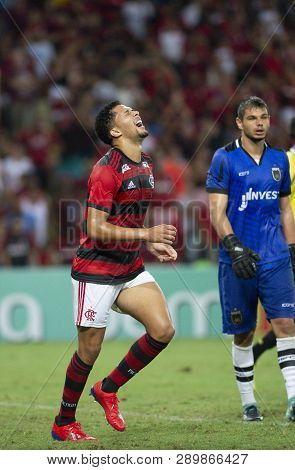Rio, Brazil - March 16, 2019: Vitor Gabriel Player In Match Between Flamengo And Volta Redonda By Th