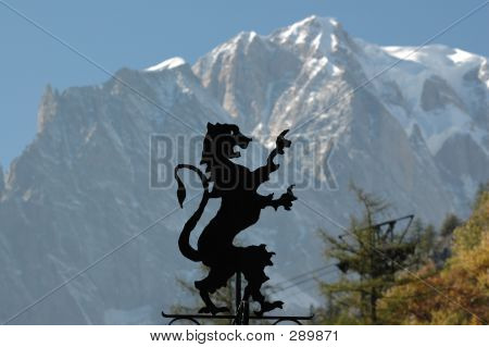 Lion With Mountain