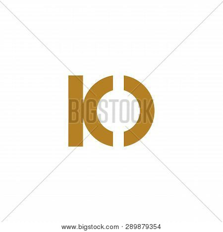 Io Letter Logo Template Vector Illustration Icon Element Isolated