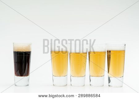 Five  Glasses Of Beer Symbolise The Diversity