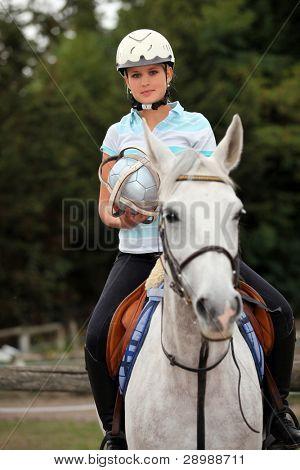 Portrait of a horseback rider