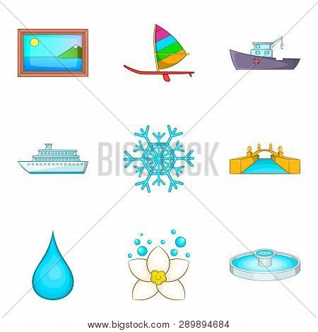 Vacuity Icons Set. Cartoon Set Of 9 Vacuity Icons For Web Isolated On White Background