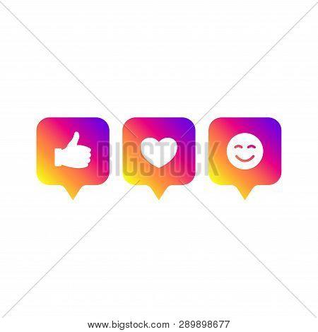 Social Media Modern Like 1, Follower 1, Comment 1 Gradient Color. Like, Follower, Comment Button, Ic