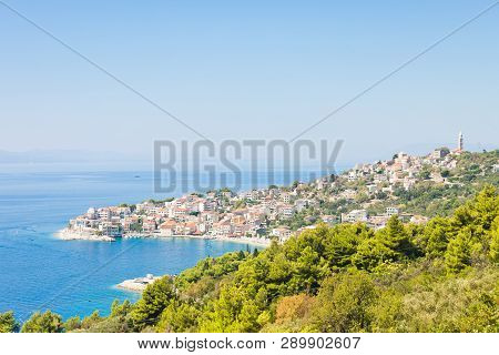 Igrane, Dalmatia, Croatia, Europe - Skyline Of The Beautiful Costal Town Igrane