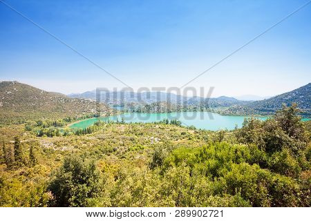 Bacina Lakes, Dalmatia, Croatia, Europe - Viewpoint Lookout Upon The Beautiful Bacina Lakes