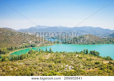 Bacina Lakes, Dalmatia, Croatia, Europe - Overview Across The Beautiful Bacina Lakes