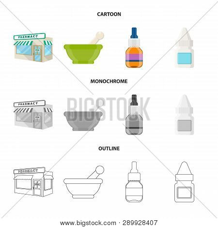Vector Illustration Of Retail And Healthcare Symbol. Collection Of Retail And Wellness Stock Vector