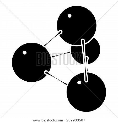 Pyramide molecule icon. Simple illustration of pyramide molecule icon for web design isolated on white background poster