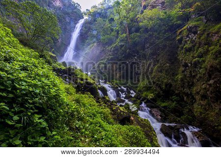 Beautiful Landscape - Mae Surin Waterfall At Khun Yuam Districts , Mae Hong Son Province , Thailand
