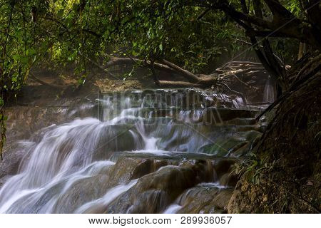 Hot Spring Waterfall At Khlong Thom Nuea, Krabi, Thailand,top Travel