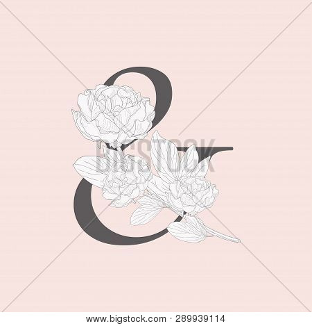 Vector Blooming Floral Ampersand Monogram And Logo