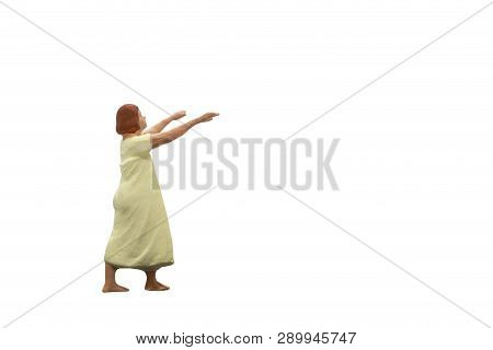 Sleepwalker Isolated On White Background With Clipping Path