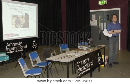 Oliver Sprague Speaking At The Amnesty International South West Regional Conference